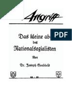 Goebbels, Joseph - Der Angriff - Das Kleine ABC Des Nationalsozialisten (10 S., Text)