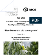 'New demands; old countryside' by Rob Yorke FRICS
