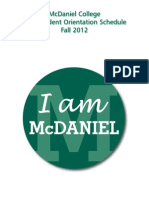 McDaniel College Orientation 2012