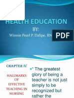 Health Education Week 4