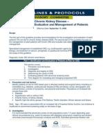 Chronic Kidney Disease –