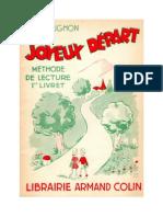 Langue Française Apprentissage Lecture et Ecriture CP Joyeux Depart Livret 1