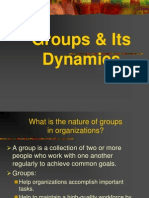 Groups & Its Dynamics