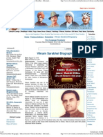 Vikram Sarabhai Biography - Indian Scientist Vikram Sarabhai - Information on Dr. Vikram Sarabhai