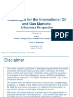 Challenges for International Oil and Gas Markets