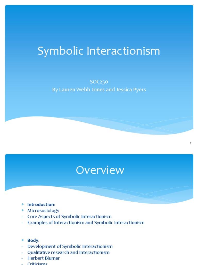 Symbolic Interactionism Finished Forconnie Pragmatism Academic