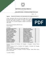 Eletti Dal Popolo i 30 Consiglieri Prov. Macerata