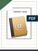 Address Book Final