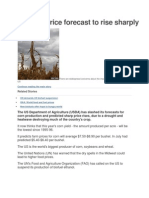 US Corn Price Forecast to Rise Sharply