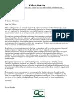 sample venture capital cover letter - Bain Cover Letter
