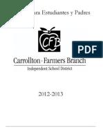 2012-2013 Manual Para Estudiantes y Padres