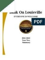 Bank on Louisville YearTwoSummary