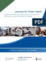 Private Enterprise for Public Health_ Guide 2012