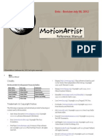 MotionArtist Reference Manual