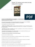 Livre de marketing Gratuit 62 Astuces pour réussir en tant que consultant