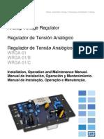 WEG Regulador de Tensao Analogico Wrga 01 10000925431 Manual Portugues Br