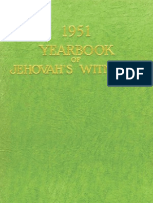 1951 Yearbook Of Jehovahs Witnesses Israelites Moses