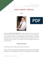 ENTREVISTA AL DR. JORGE LUIS TIZÓN_TEMAS DE PSICOANALISIS 4