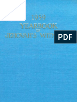 1959 Yearbook of Jehovahs Witnesses | The Gospel | Jesus