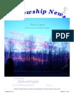 August 7, 2012 Fellowship News