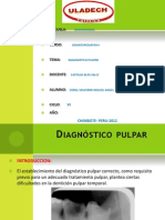 Diagnostico Pulpar en ODONTOPEDIATRIA