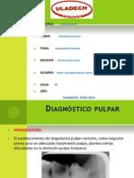 Diagnostico Pulpar en ODONTOPEDIATRIA