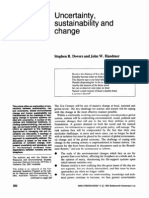 Uncertainty, Sustainability and Change