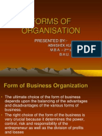 Forms of Organisation- Roll No. 1