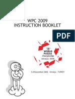 Instrucţiunile Campionatului Mondial de Rebus Logic, 2009