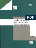 Subirats-Análisis de políticas públicas y eficacia de la Administración.