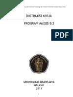 Instruksi Kerja Program ArcGIS 9.3
