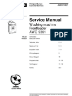 Whirlpool Awo 9361 Service Manual English