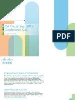 Cisco Q4FY12 Earnings Slides