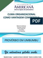 Cultura Organizacional como Vantagem Competitiva (estudo caso empresas saúdaveis para trabalhar)