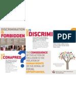Folleto ¿Qué es la discriminación? - versión en inglés