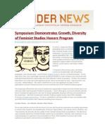 Symposium demonstrates growth, diversity of Feminist Studies Honors Program