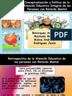 LA CONCEPTUALIZACIÓN Y POLÍTICAS DE EDUCACIÓN ESPECIAL