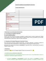 Elaboração do Projeto Técnico_PST 2011 INS