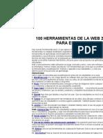 100 Herramientas Web 2.0 Alumnos Convers 2011