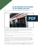 202 Millones de Desempleados en El Mundo 2012