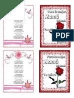 Tarjeta Dia d La Madre