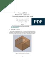 Caixa de acrilico - Fórmula UFMG