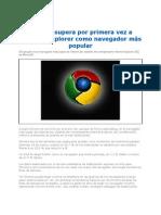 Chrome Supera Por Primera Vez a Internet Explorer 2012