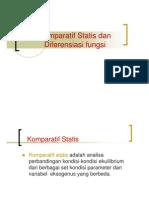 Matematika Ekonomi Slide Komparatif Statis Dan Diferensial Fungsi