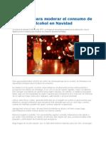 Consejos Para Moderar El Consumo de Alcohol en Navidad 2012