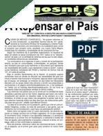 KGOSNI 109-A REPENSAR EL PAÍS