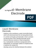 Liquid Membrane Electrode