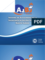 Informe de Actividades del primer año de la Secretaría de Acción Juvenil Benito Juárez