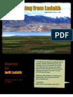 JwM Ladakh - Sep 2012 Itinerary & Costs