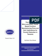 The Growth of Micro and Small, Cluster-Based Furniture-Manufacturing Firms and their Implications for Poverty Reduction in Tanzania